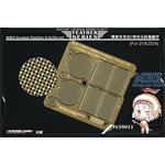 WWII German Panther D Grills set (For ZVEZDA)