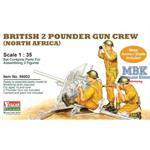 Brit. 2 pounder gun crew - North Africa