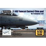 F-14D Tomcat Correct Chin pod set
