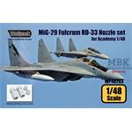 MiG-29 Fulcrum RD-33 Engine Nozzle set