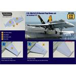 F/A-18A/B/C/D Flap down set