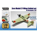 A6M2b Zero Model 21 Wing Folded set