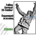 Falling German SS-Soldier