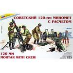 Sovietischer 120mm Mörser mit Crew