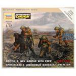 1:72 WW2 brit. 3 inch Mörser mit Crew
