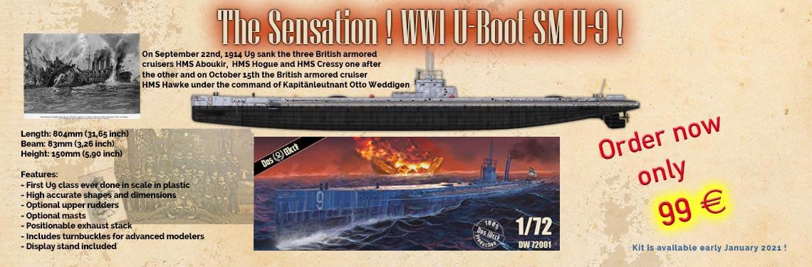 submarine WW1 U-Boat U9