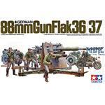 88mm FLAK 36/37 inkl. 9 Figuren + Motorrad