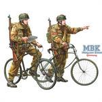 WWII Brit. Fallschirmjäger mit Parabike