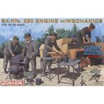 Mechanics with Sd.Kfz. 250 Engion