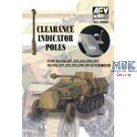 CLEARANCE POLES Sd.Kfz. (6 PCS)