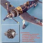 F4U-1 Corsair Motor, Cockpit Set und Bewaffnung