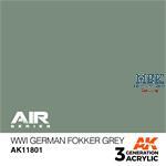WWI GERMAN FOKKER GREY - AIR (3. Generation)