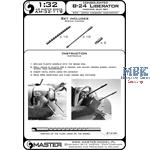 Consolidated B-24D/B-24J Liberator MG barrel set