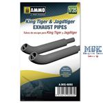 King Tiger & Jadtiger Exhaust Pipes 1:35