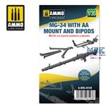 MG-34 with AA Mount and Bipods 1:35
