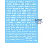 U.S. Fahrzeugregistriercodes, unschabloniert WEISS