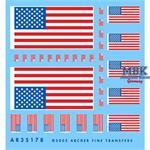 U.S. Flaggen und Schulterklappen