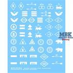Sowjetische Takt. Markierungen Einheitsabzeichen