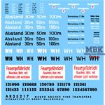 Verschiedene Deutsche Fahrzeugmarkierungen