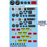M35A2 Instrumente und Beschriftungen