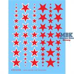 Rote Sterne /Sowjetsterne versch. Größen