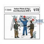 Italienische Piloten und Mechaniker