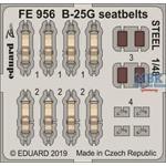 B-25G seatbelts STEEL  1/48