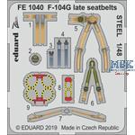F-104G Starfighter late seatbelts STEEL 1/48