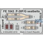 Lockheed P-38F/G Lightning seatbelts STEEL 1/48