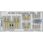 Grumman F-14D Tomcat seatbelts STEEL 1/48
