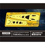 WW II  IJN Heavy Cruiser Takao Metal Deck