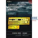 WW II  IJN Destroyer Asashio Metal Deck