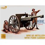 WWI, US Artillery 75mm