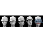 5 Heads German WW2 Para Helmet