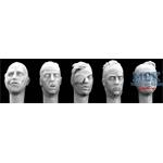 5 different bandaged Heads