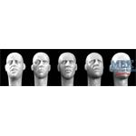 5 different Heads with Europen Faces