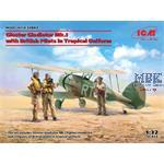 Gladiator Mk.I + British Pilots in Tropical Unif.