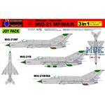 "MiG-21MF/MiG-21MA/MiG-21R ""Joy Pack"" (3 Kits)"