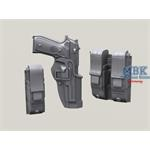 Beretta 92F in Blackhawk Serpa Holster