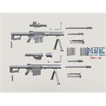 Barrett M107 Sniper Rifle w/QDL Suppressor set