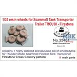 Resin wheels for Scammell Pioneer Trailer