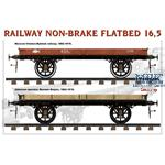 RAILWAY NON-BRAKE FLATBED 16,5 t
