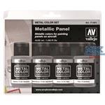 Vallejo Metal Color Metallic Panel Set (4)