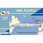 HMA R33/R34 'Transatlantic Flyer'  1:720