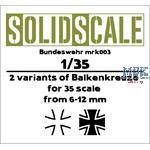 Bundeswehr Eisernes Kreuz / Tatzenkreuz  1/35