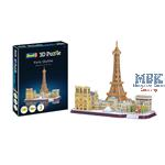 3D Puzzle: Paris Skyline
