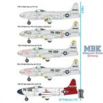 Lockheed P-80A/B 5 camouflaged versions