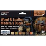 Wood & Leather Set