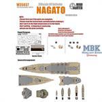 WWII IJN Battleship Nagato
