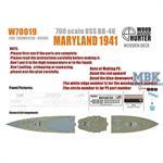 USS BB-46 Maryland 1941
